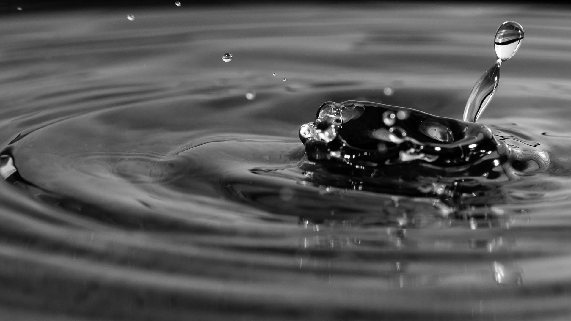 Nikon D300 - Wassertropfen schwarz weiss fotografieren