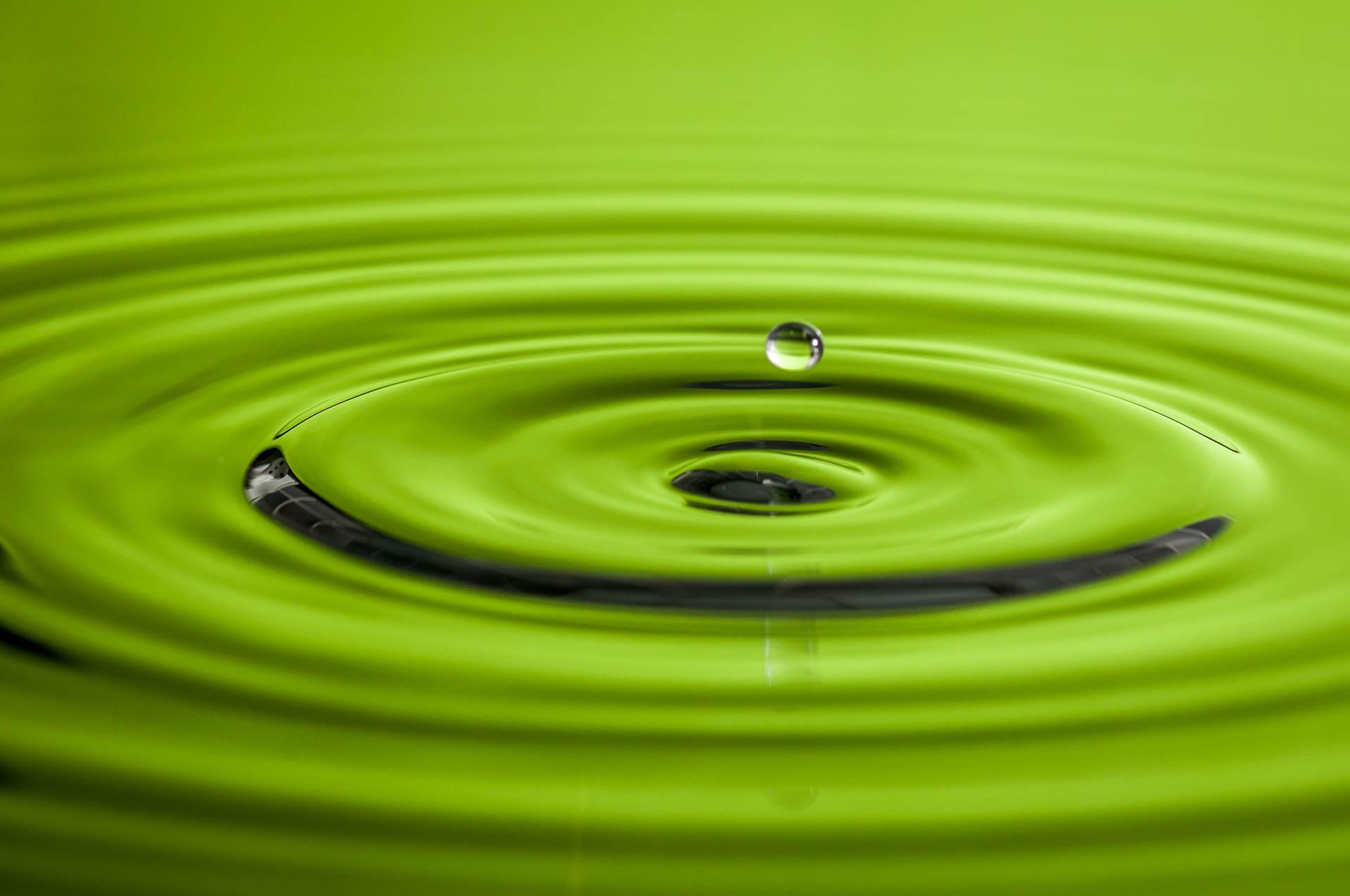 Nikon D300 - Wassertropfen gruen fotografieren