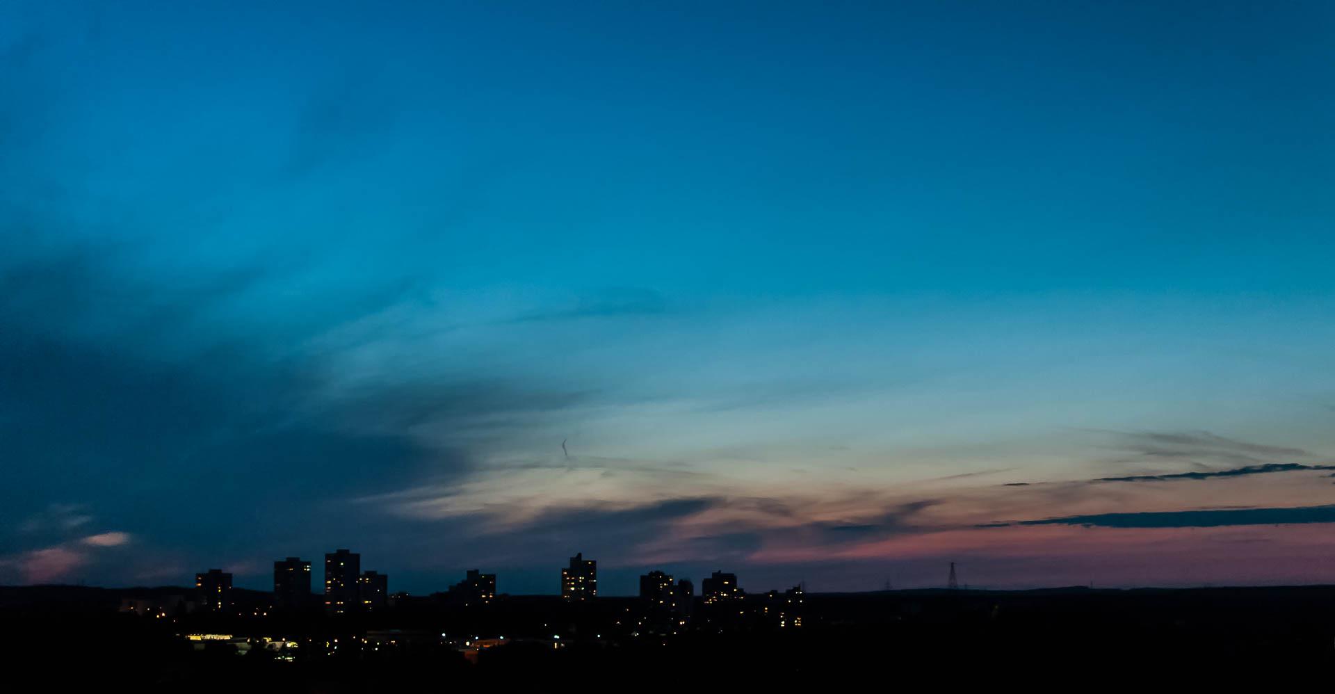 Nikon D300 - Skyfall ein himmlischer Sonnenuntergang in Erlangen