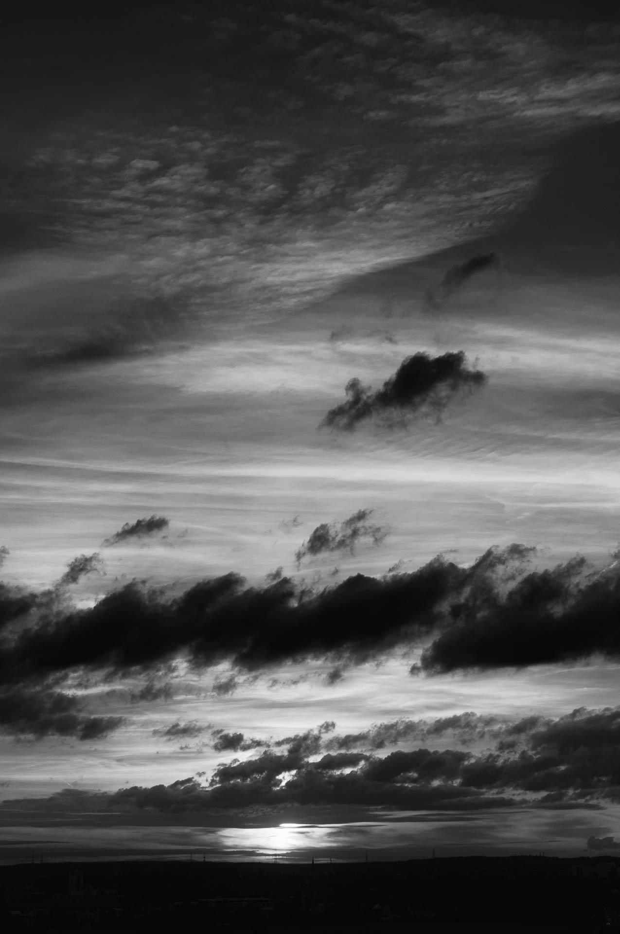 Nikon D300 - Sonnenuntergang und Wolken