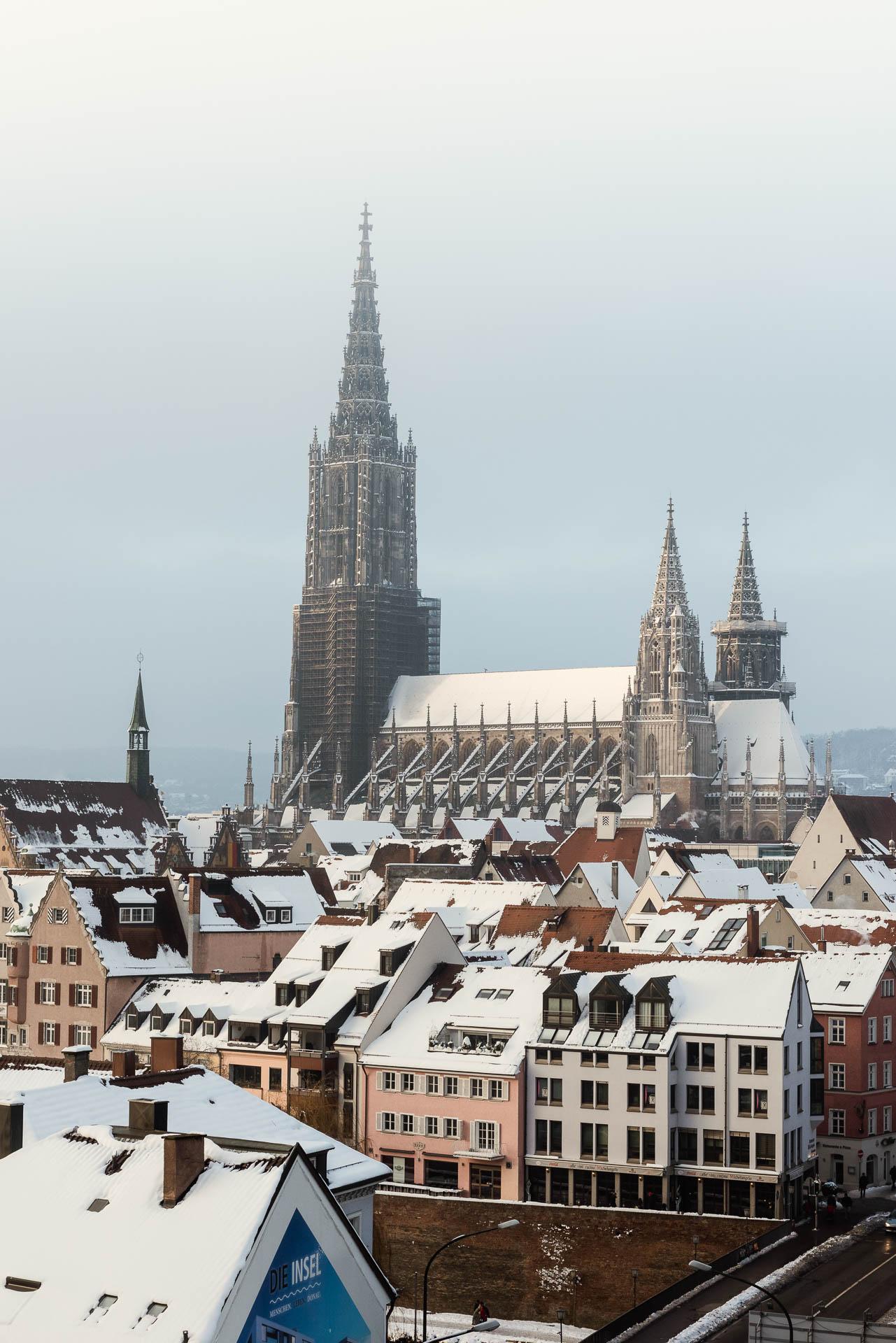 Das Ulmer Münster im Winternebel