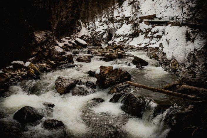 Die reisenden Fluten der Breitachklamm