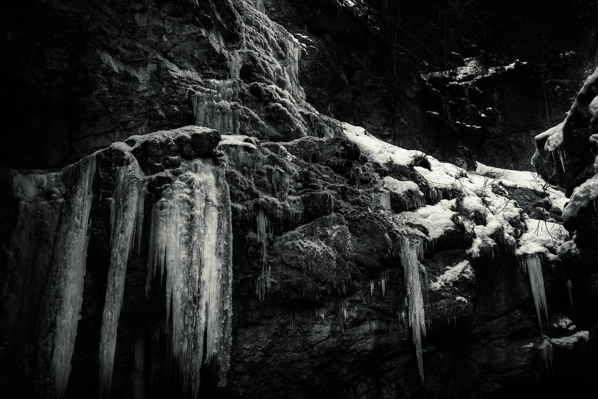 Galerie von Eiszapfen in der Breitachklamm