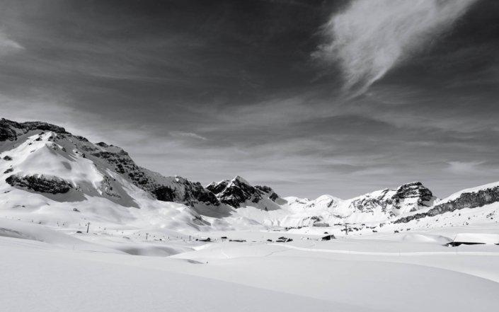 Panorama im Skigebiet Engelberg Titlis