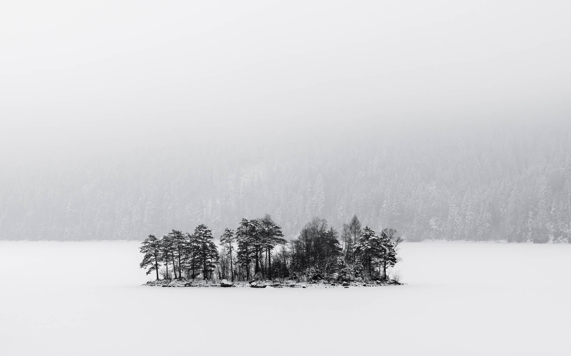 kleine Insel im Eibsee