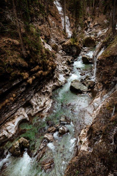 Der Fluss Breitach
