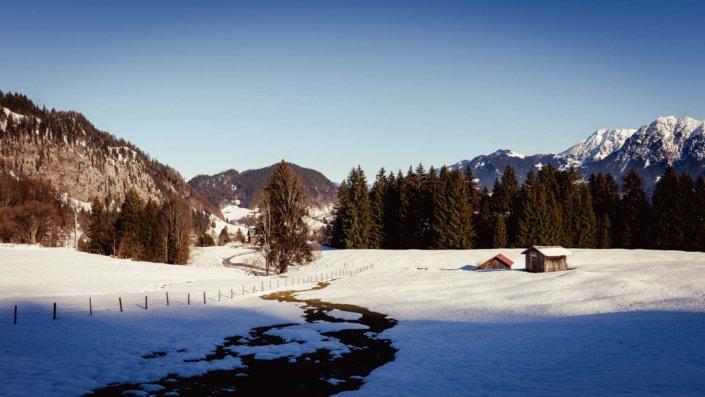 Schneeschmelze Kleinwalsertal