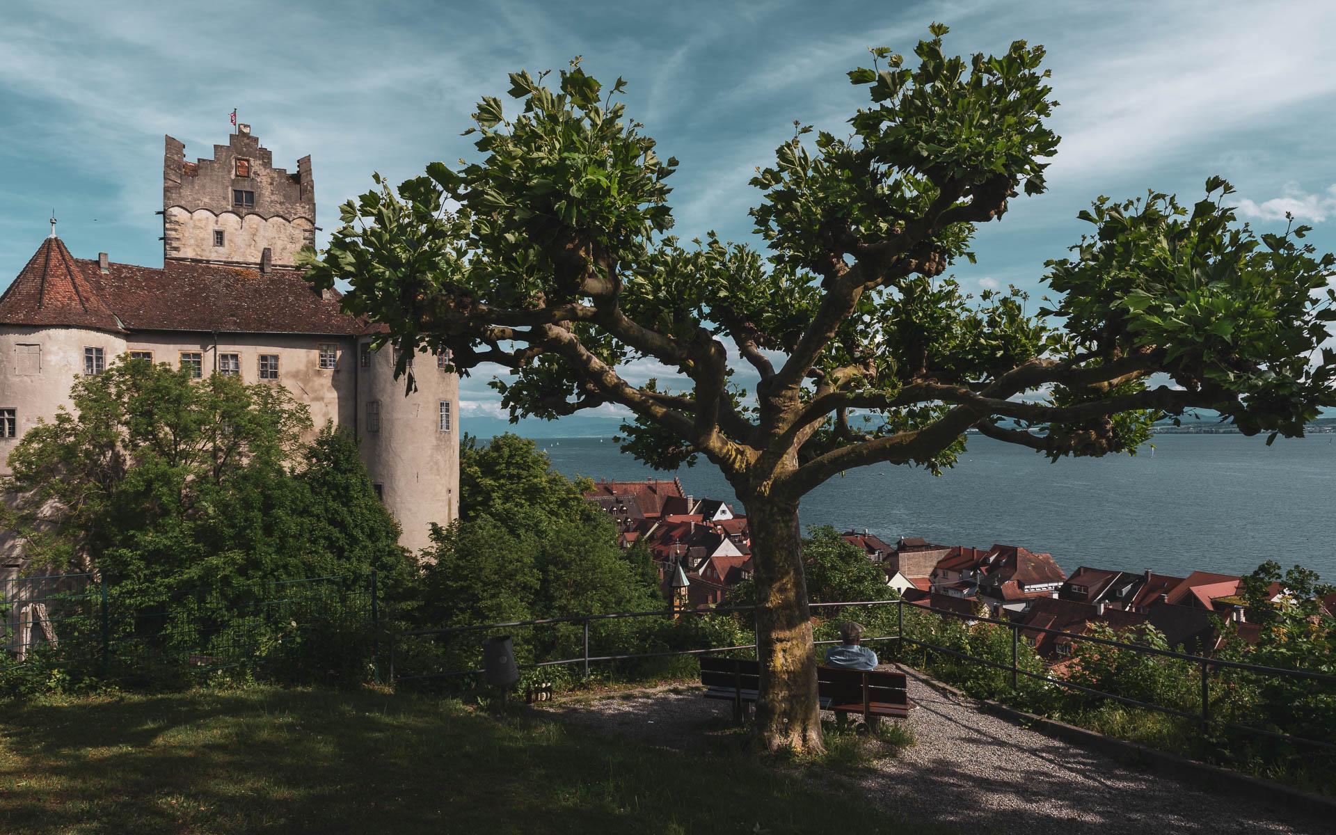 Rast oberhalb der Burg in Meersburg