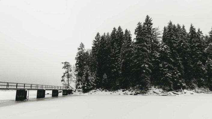 Brücke zum Eibsee